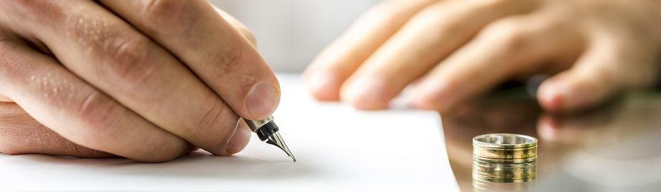 echtscheidingsaanvraag ondertekenen